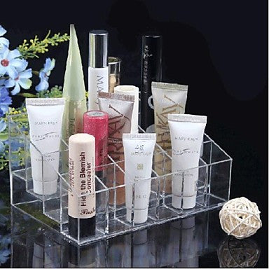 Acrylic Transparent Cosmetic Makeup Storage Display Stand - The Accessory Nook  - 1