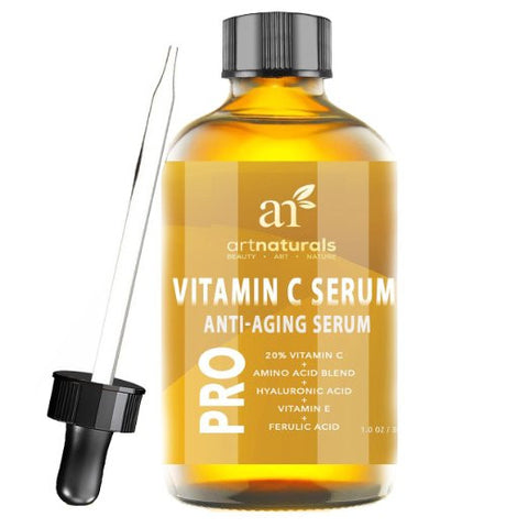 Enhanced Vitamin C Serum with Hyaluronic Acid 1 Oz -Top Anti Wrinkle Anti Aging Repairs Dark Circles - The Accessory Nook
