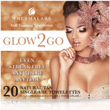 20 Self Tanning Towelettes Tanner Sunless Skin Half Body Wipes Application Towels - The Accessory Nook  - 2