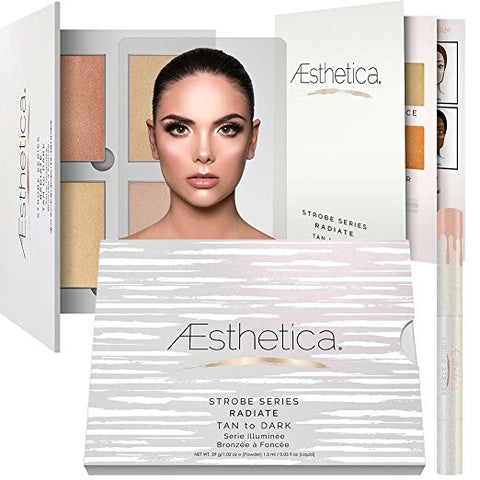 Aesthetica Strobe Series Highlighting Kit -5-Piece Makeup Palette Set - Tan to Dark - The Accessory Nook  - 1