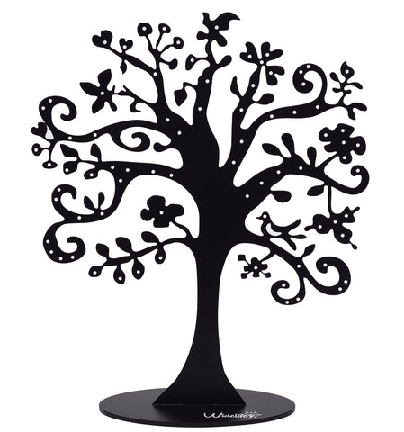 Black Metal Jewelry Tree Stand Organizer Holder Display for Earrings, Bracelets - The Accessory Nook  - 1