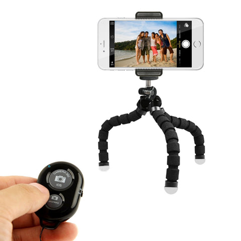 Mini Phone Tripod Stand - TriFlex Mini - Flexible iPhone Tripod for Any Smartphone - The Accessory Nook  - 1