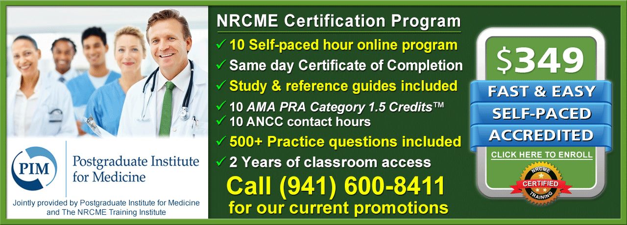 Enroll in The NRCME Training Institute to be a certified NRCME examiner.