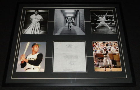 Roberto Clemente Signed Display