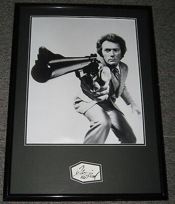 Clint Eastwood Dirty Harry Signed Framed 20x28 Photo Poster Display JSA