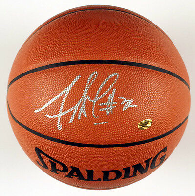 Amare Stoudemire Signed Full Size Spalding NBA Basketball Knicks Suns