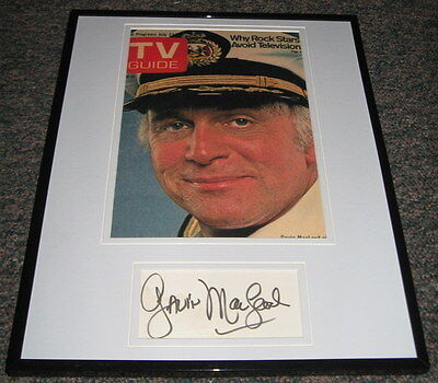 Gavin McLeod Love Boat Signed Framed 11x14 Photo Display