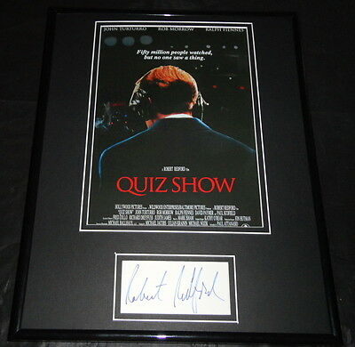 Robert Redford Quiz Show Facsimile Signed Framed 11x14 Photo Display
