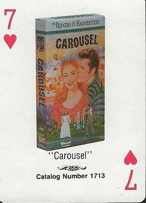 Carousel RARE 1988 CBS Fox Promotional Playing Card Shirley Jones