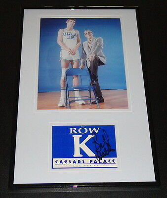 Bill Walton Signed Framed 11x17 Photo Display UCLA w/ John Wooden