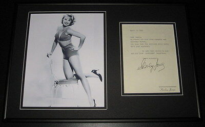 Shirley Jones SEXY Signed Framed 12x18 Letter & Photo Display Partridge Family