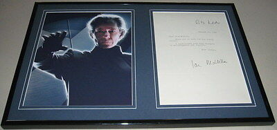 Ian McKellen Signed Framed 1984 Letter & Photo Display JSA Magneto X Men
