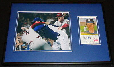 Don Mattingly FIGHT Signed Framed 12x18 Photo Display Dodgers vs DBacks