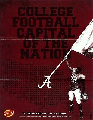 Alabama College Football Capital of the Nation Mini Poster Official Reproduction