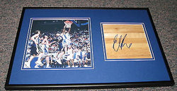 Elton Brand Signed Framed 12x18 Floorboard + Photo Display Duke