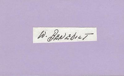 William Benedict Signed 3x5 Index Card The Sting Captain Marvel