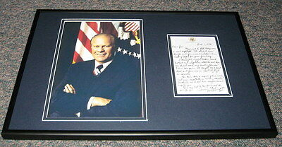 President Gerald Ford Facsimile Signed Framed 1978 Letter & Photo Display
