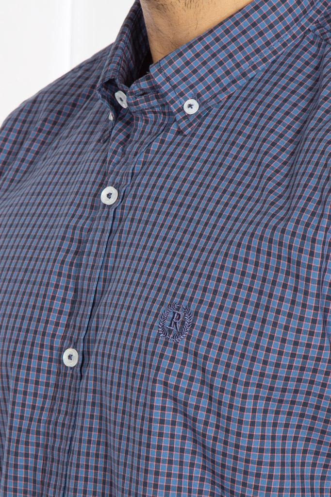 RT Casual Shirt F/S CHK C19005-BL - M