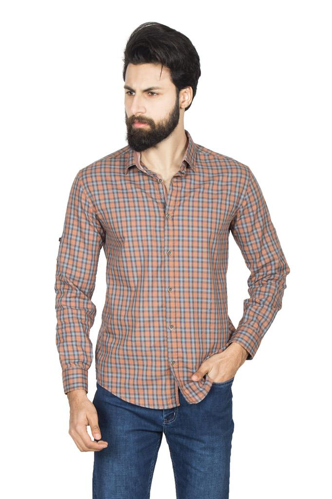 Casual Shirt F/S CHK C193001-RST