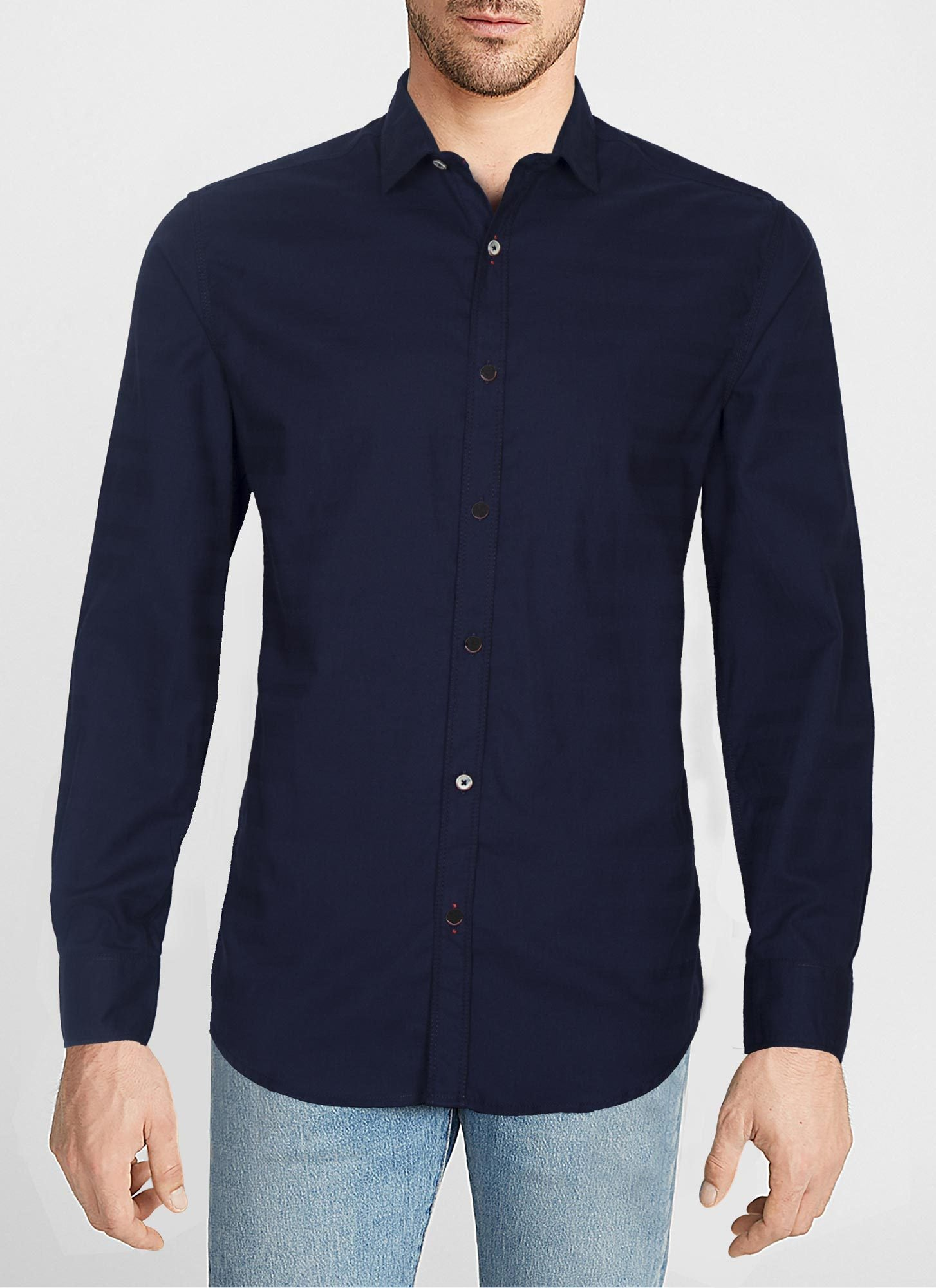 CASUAL SHIRT F/S PL C19418-BL