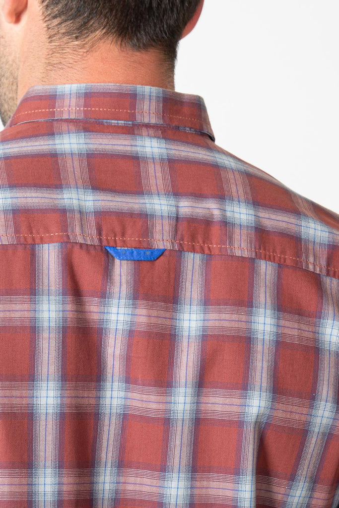 RT Casual Shirt F/S CHK C19610-RST - M