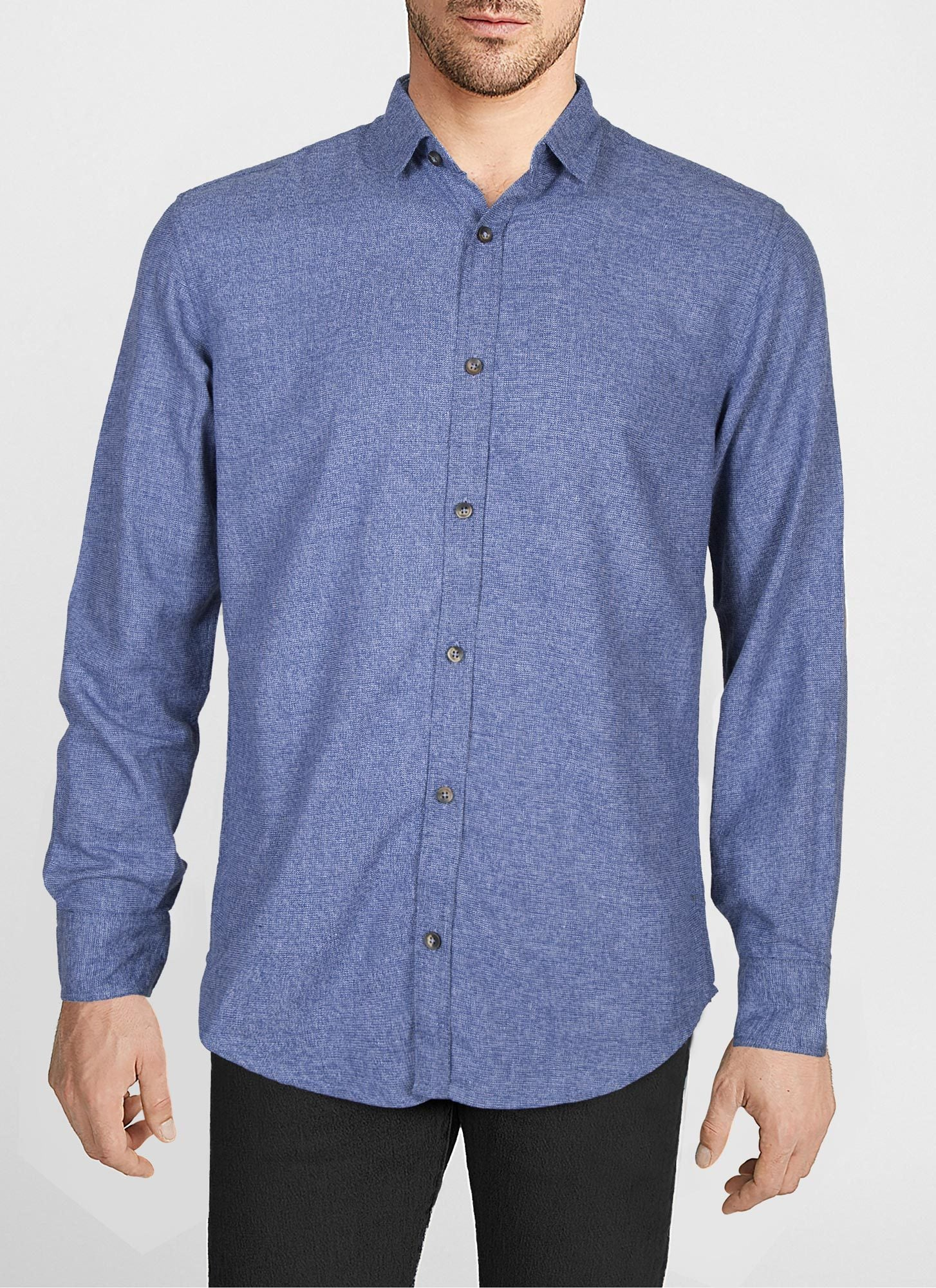 Casual Shirt F/S PL C19809-BL