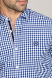 RT Casual Shirt  F/S CHK C20902-BL
