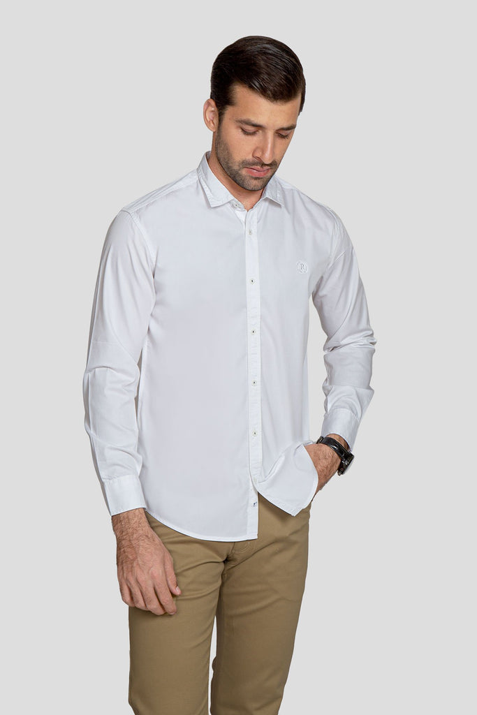 RT Casual Shirt  F/S LINING L20511-WT
