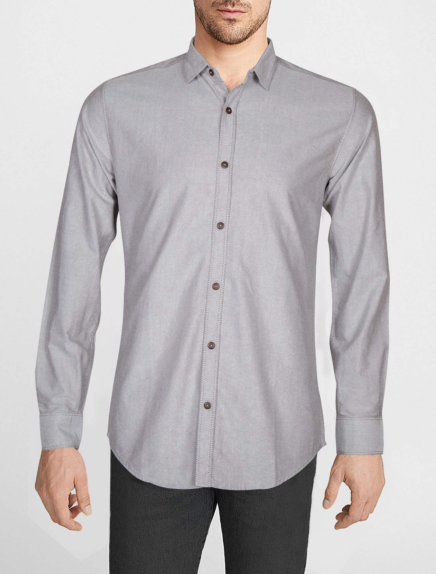Casual Shirt F/S PL P19522-GR