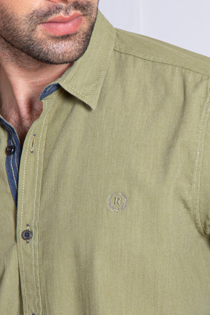 RT CASUAL SHIRT F/S PL P20803-LGN - M