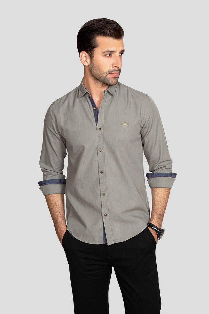 RT Casual Shirt  F/S PL P20901-LGN