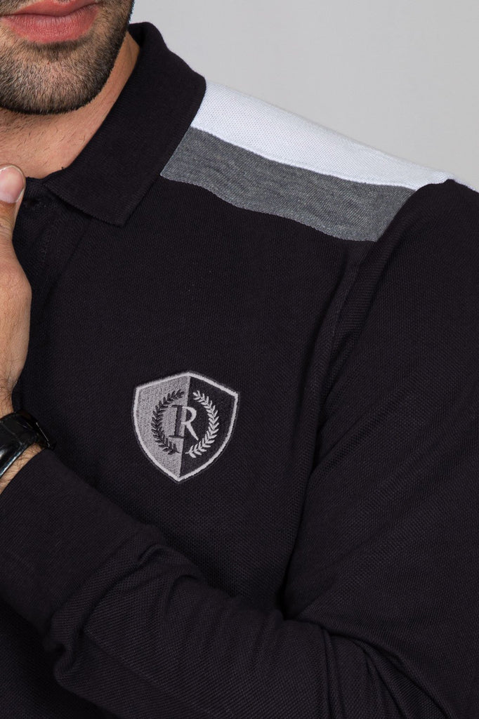 RT POLO SHIRT F/S RA1902-BK