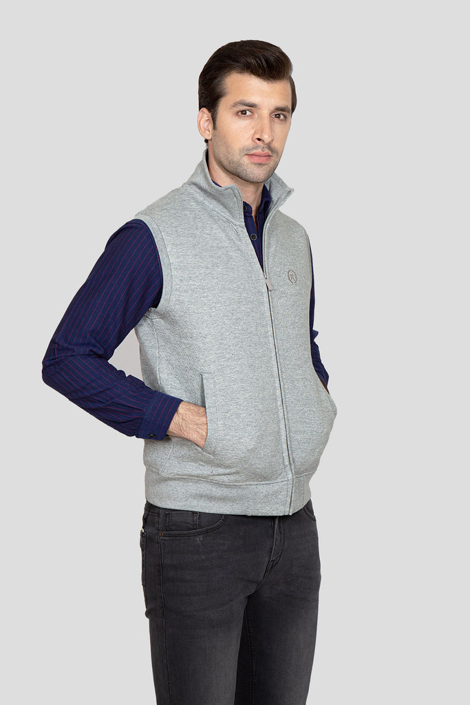 RT Zipper Mock Neck S/L RAM802-GR