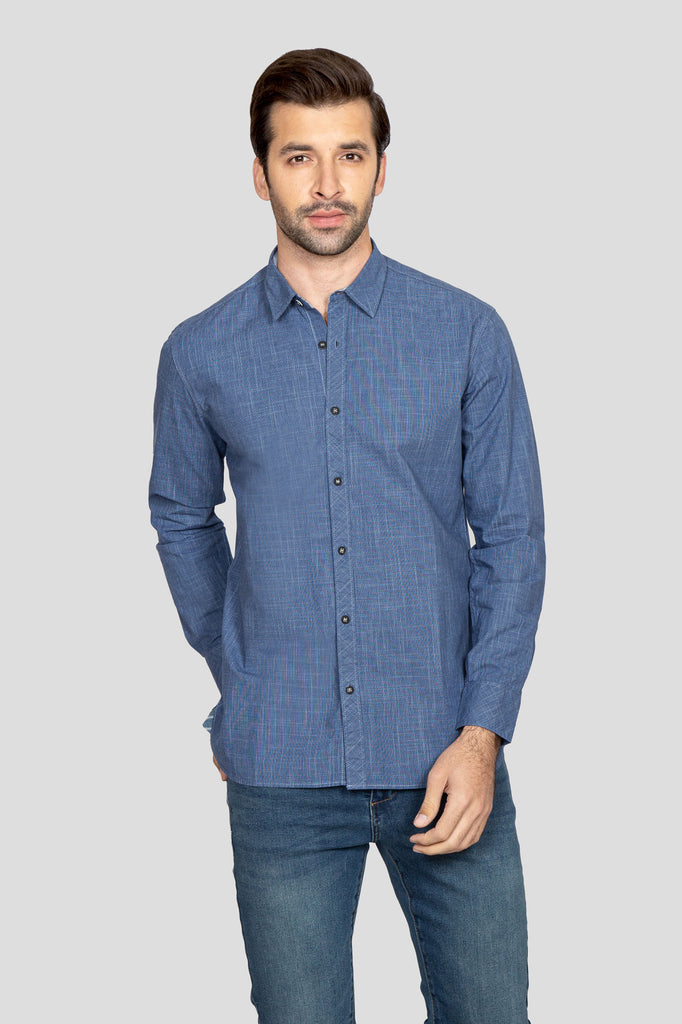 RT Casual Shirt  F/S TEX T20302-BL