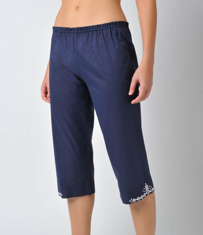 Cotton Voile Capri Pant