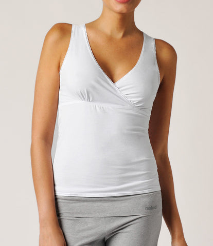 Essential Cotton Stretch Criss Cross Cami