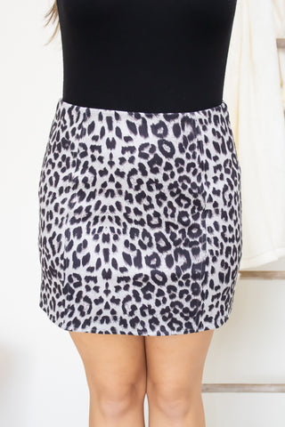 Wild In Love Animal Print Skirt