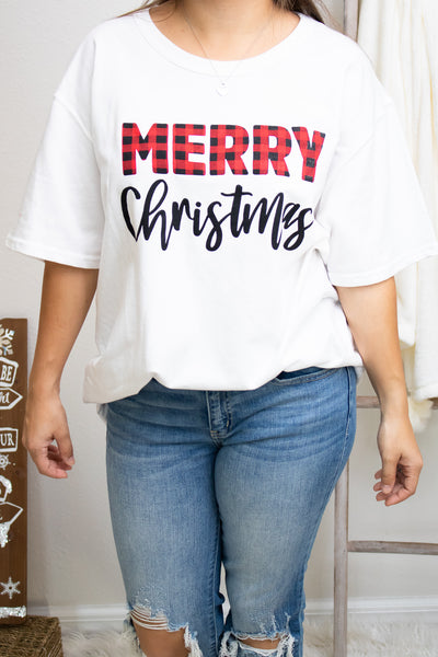 Merry Christmas Top - Calico's Boutique