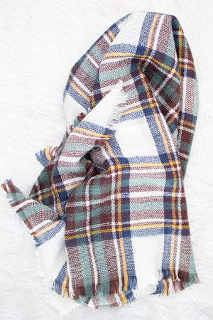 Blanket Scarf (teal) - Calico's Boutique