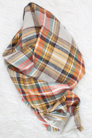 Blanket Scarf (mustard) - Calico's Boutique
