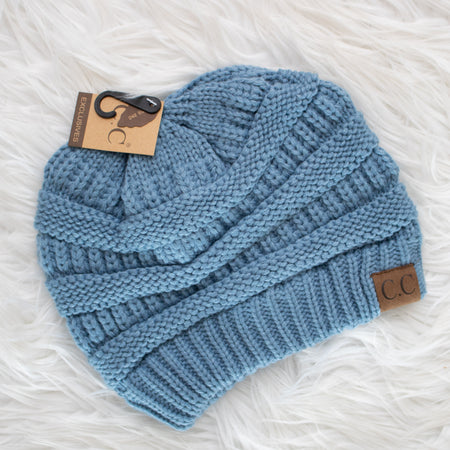 CC Beanie (denim) - Calico's Boutique