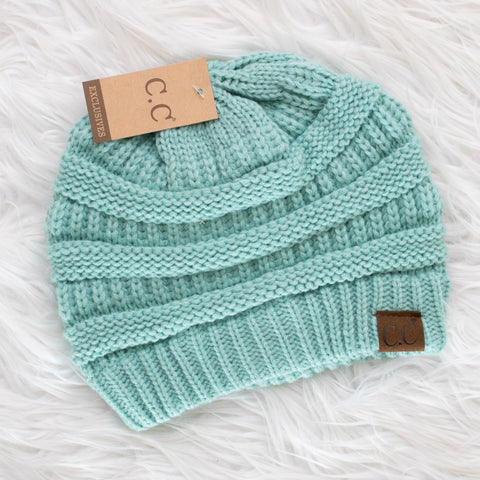 CC Beanie (mint) - Calico's Boutique