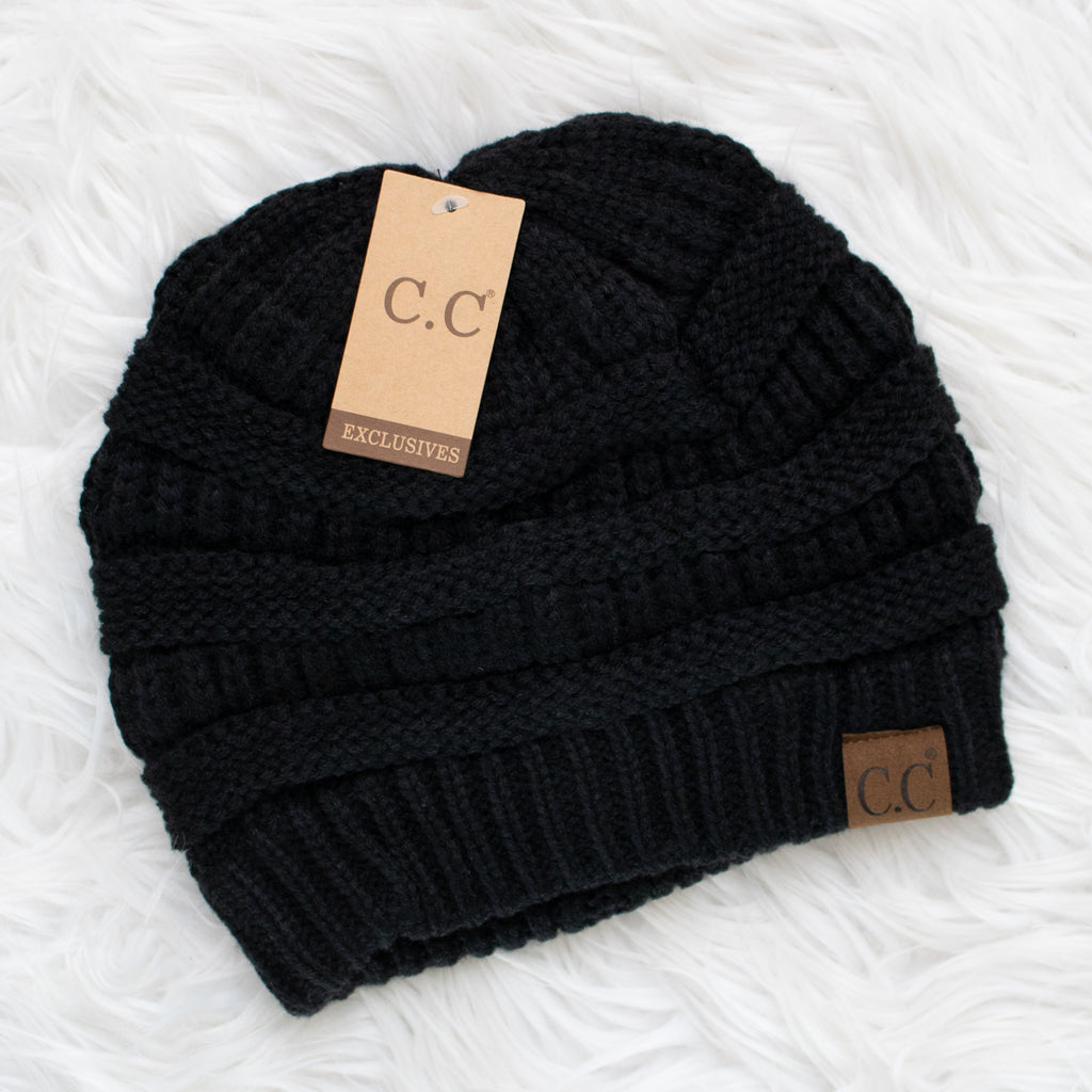 CC Beanie (black) - Calico's Boutique
