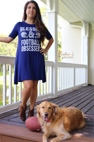 Football Obsessed Dress - Calico's Boutique