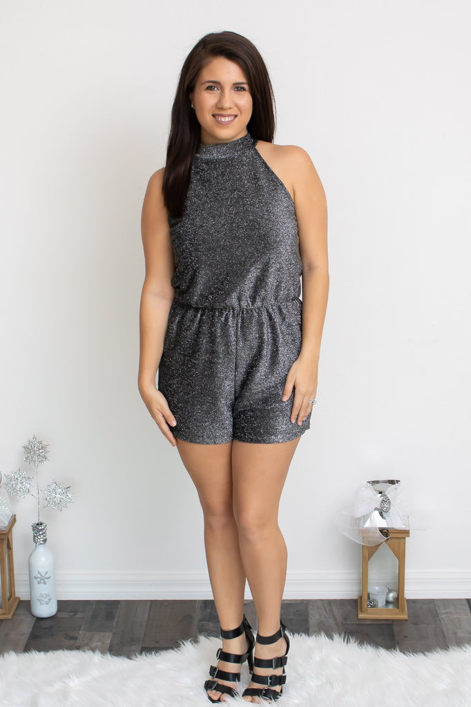 Silver Bells Romper - Calico's Boutique