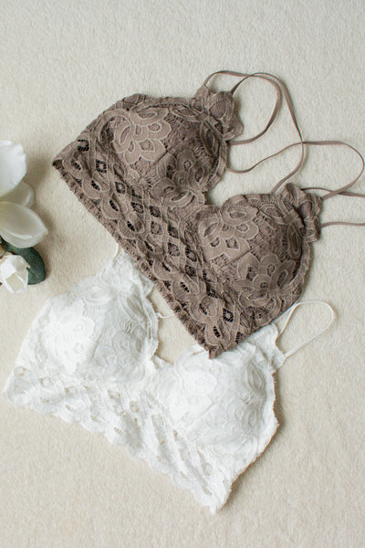 Scalloped Lace Bralette (ivory) - Calico's Boutique