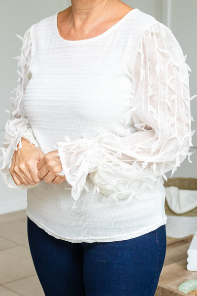 Sleeves Of Fall Textured Top