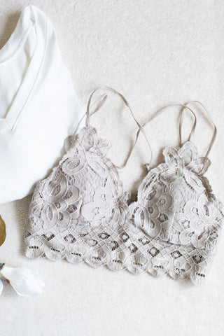 Scalloped Lace Bralette (champagne) - Calico's Boutique