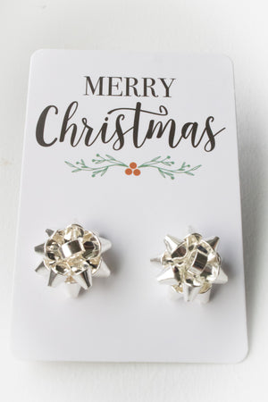 Bow Earrings (silver)