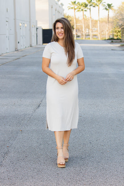 Pearl Gray T-Shirt Dress